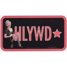 Marilyn Monroe Hollywood Star License Plate