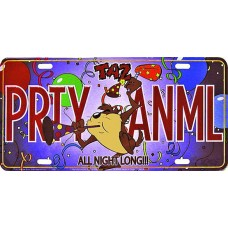 Taz Party Animal License Plate