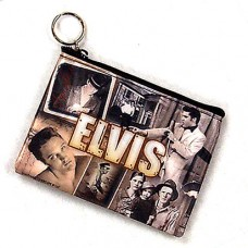 Elvis Presley Sepia Collage Makeup Bag