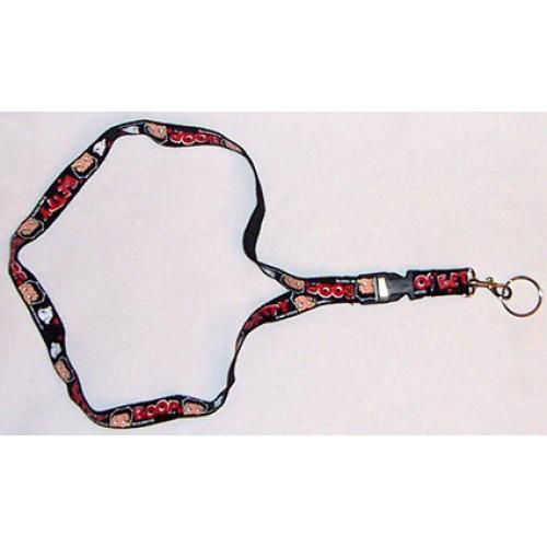 Betty Boop Black Lanyard Keychain Keyring New