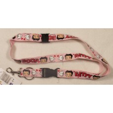 Betty Boop Pink Lanyard Keychain