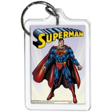 Superman Standing White KeyChain