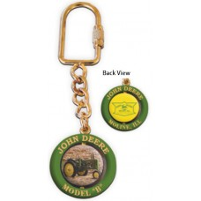 Deere Model B Spinning Keychain