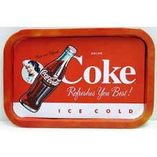 Coca Cola Refreshes You Tray