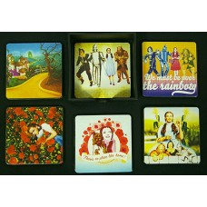 Wizard of Oz Wood Coaster Set