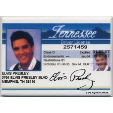 Elvis Presley Driver License Magnet