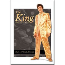 Elvis Presley King 110 Gold Magnet