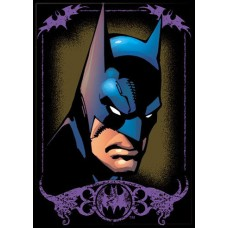Batman in Purple Frame Refrigerator Magnet