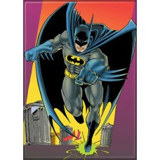 Batman on City Street Refrigerator Magnet