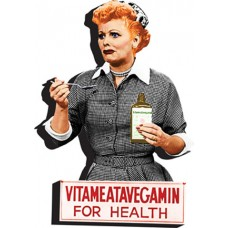 I Love Lucy Vitameatavegamin Laser Cut Wood Magnet