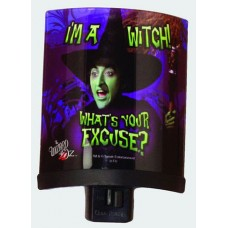 Wizard of Oz I'm a Witch Glass Night Light