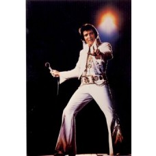 Elvis Presley White Jumpsuit Postcard