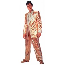 Elvis Presley Gold Lame Die Cut Greeting Card