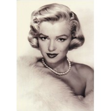 Marilyn Monroe in Fur Greeting Card