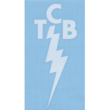 Elvis Presley White TCB Decal