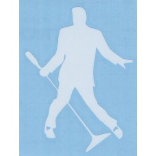 Elvis Presley White Dancing Decal