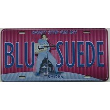 Elvis Presley Blue Suede License Plate