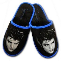 Young Elvis Presley Blue Slippers
