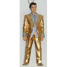 As-Is Elvis Presley Gold Lame Ornament