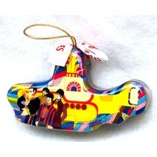 Beatles Yellow Submarine Decoupage Ornament