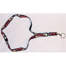 Betty Boop Black Lanyard Keychain