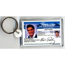 Elvis Presley Tennessee Drivers License Keychain