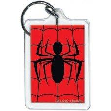 Spiderman Spiderweb Logo Red KeyChain