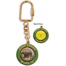Deere Model B Spinning Keychain
