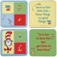 Dr. Seuss Cat in the Hat Coaster Set