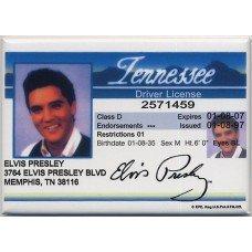 Elvis Presley Driver License Magnet