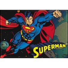 Superman In Flight Refrigerator Magnet