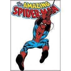 Amazing Spiderman White Refrigerator Magnet
