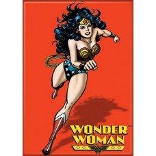 Wonder Woman Action Red Background Refrigerator Magnet