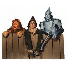 Wizard of Oz Lion, Scarcrow, Tinman Die Cut  Magnet