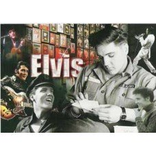 Elvis Gold Record Collage Postcard