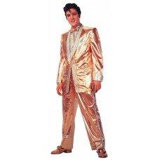 Elvis Presley Gold Lame Die Cut Greeting Card