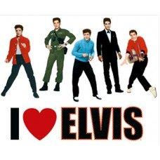 I Love Elvis Window Clings