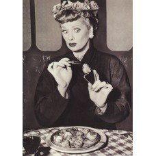 I Love Lucy Testing Food Greeting Card