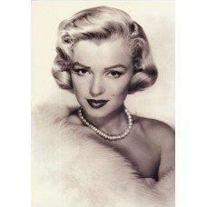 Marilyn Monroe in Fur Greeting Card