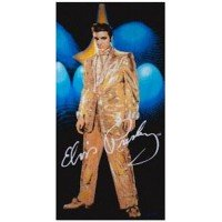 Elvis Presley Gold Lame Beach Towel