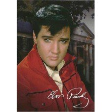 Elvis Presley Red Jacket Postcard